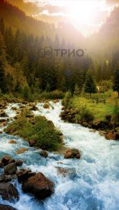 обогревающая картина Трио Горная река