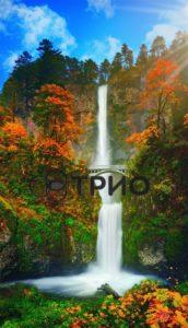 трио водопад с мостиком