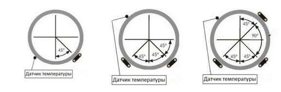установка датчика температуры на трубу