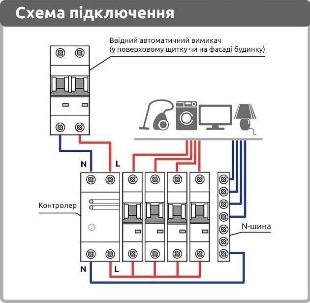 схема включения контроллера Баклер КМР-121-60