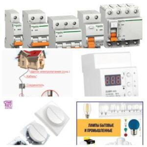 раздел электрофурнитуры, заземления, силовой автоматики